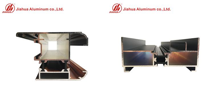 Profilés de fenêtre en aluminium
